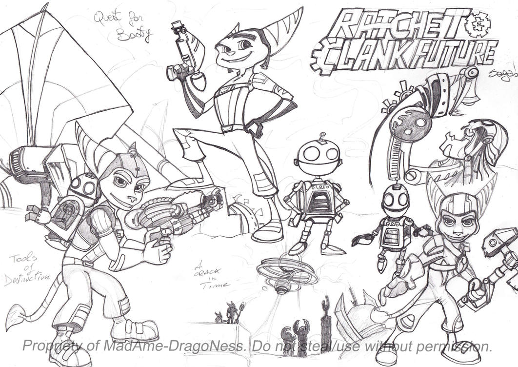 Ratchet and Clank Future saga Collage by MadAme-DragoNess