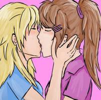 yuri kiss by yuki-natsumi