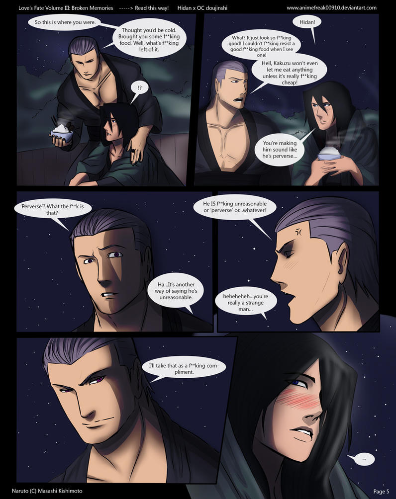Love's Fate Hidan V3 Pg 5 by AnimeFreak00910