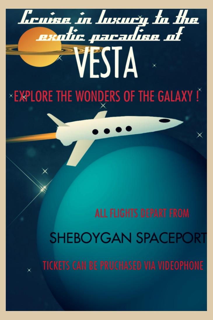 Eats vintage space poster