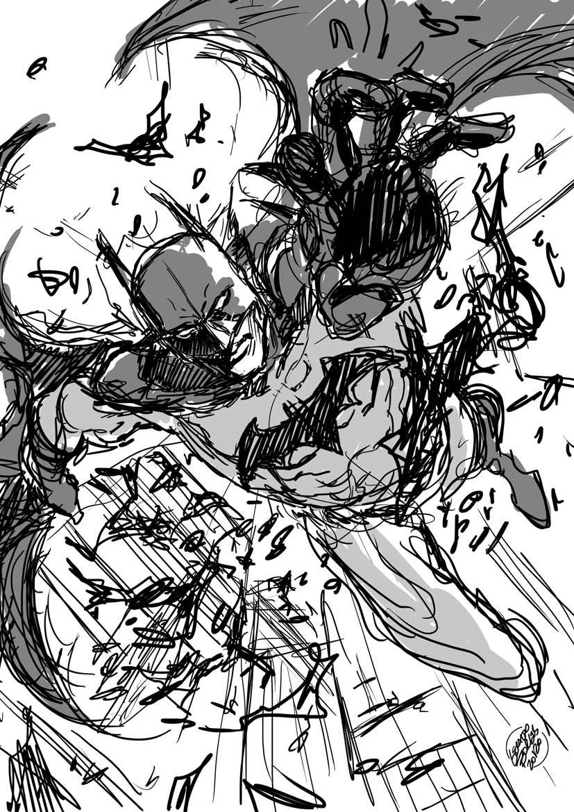 Batman sketch by geraldohsborges