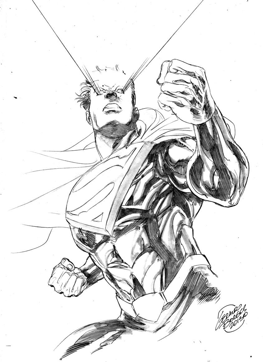 Superman - pencils and...