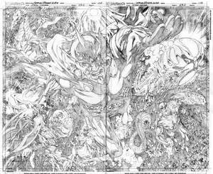 Aquaman#23.2 Ocean Master double page 2-3 pencils