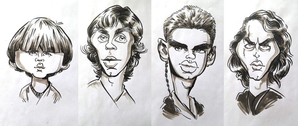 Anakin's Downfall - Caricatures by drawacrowdau