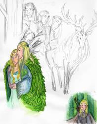 Lothlorien sketches by Rocker-foxie