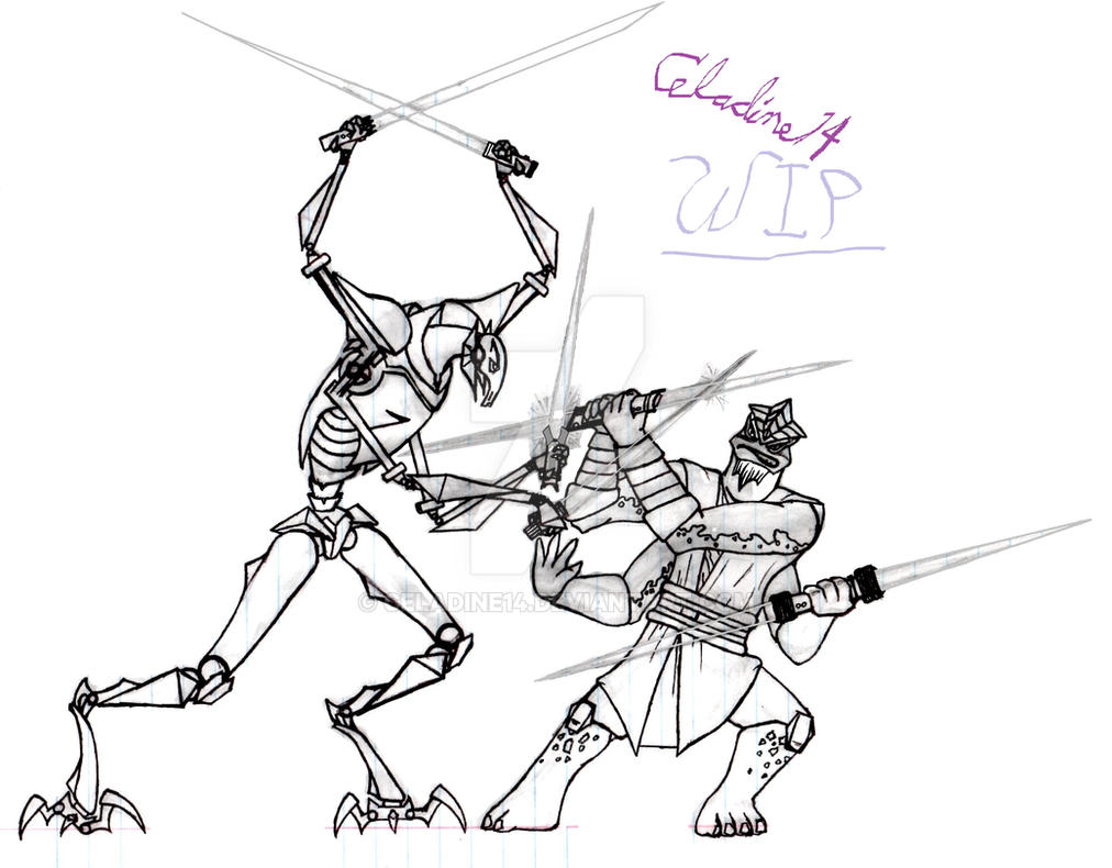grievous vs krell wip 3 by celadine14 on deviantart