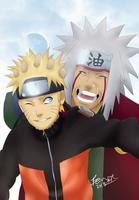 Naruto and Jiraiya - Memories by xWolfsSpiritx