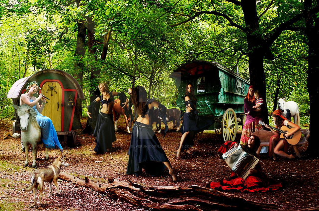 Gypsy Campsite by Silv...