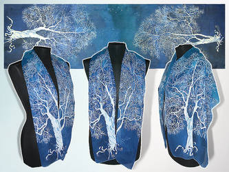 Silk scarf WHITE TREE of GONDOR - for commission! by MinkuLul