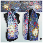 Silk scarf Night Queen - FOR SALE