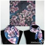 SIlk scarf CHERRY BLOSSOM - FOR SALE