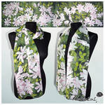 Silk scarf CLEMATIS - FOR SALE
