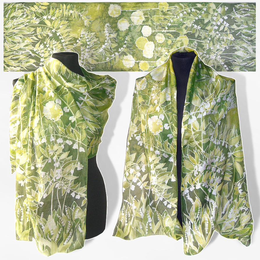 Silk Scarf Lily Of The Valley