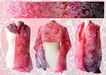 Silk scarf Fire - for SALE