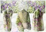 Silk scarf Shamrock - for sale