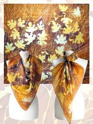silk scarf Autumn Leaves - for sale