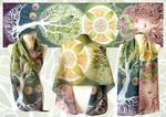 Celtic Tree of Life scarf