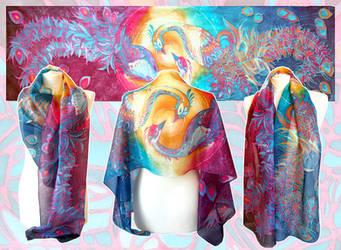 Phoenix scarf - ready to go! by MinkuLul