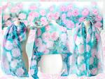 Chrysanthemum silk scarf - FOR SALE