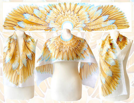 Golden Wings silk scarf - for sale!