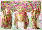 silk scarf Poppies by MinkuLul