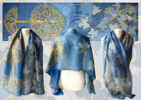 Scarf Gold Tree - for sale