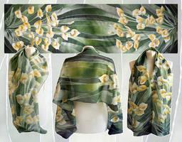 Calia flowers silk scarf - ready!