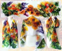 Rustic Sunflowers scarf