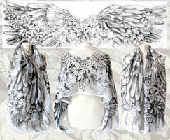 Angelic Wings silk scarf
