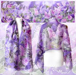 Lilac Silk Scarf - another take!
