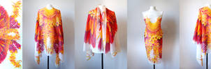 silk sarong Phoenix wings - for sale