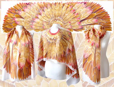 Aztec Wings silk scarf