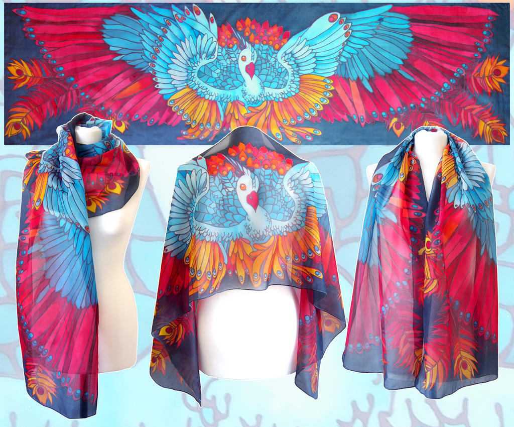 """great scarf of birds The organization, diction, and figurative language used, in """"the great scarf of  birds"""" prepares the reader for the speaker's concluding response."""