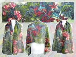 Chameleon silk scarf by MinkuLul