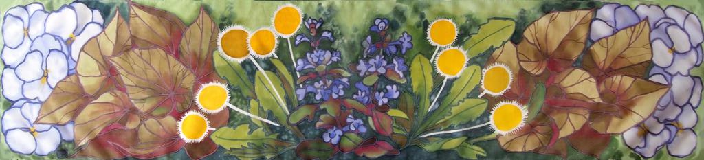 Floral slim scarf by MinkuLul