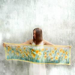 Narcissus silk scarf