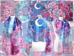 Crescent Moon silk scarf