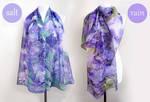 Silk scarfs Rain and Salt color set