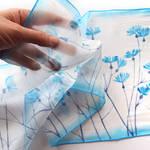 Blue Coneflowers silk scarf