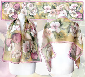 Raspberry silk scarf