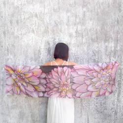 Dahlia silk scarf