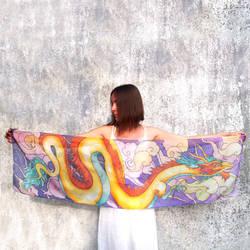 Chinese Dragon silk scarf