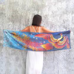 Fire Bird silk scarf