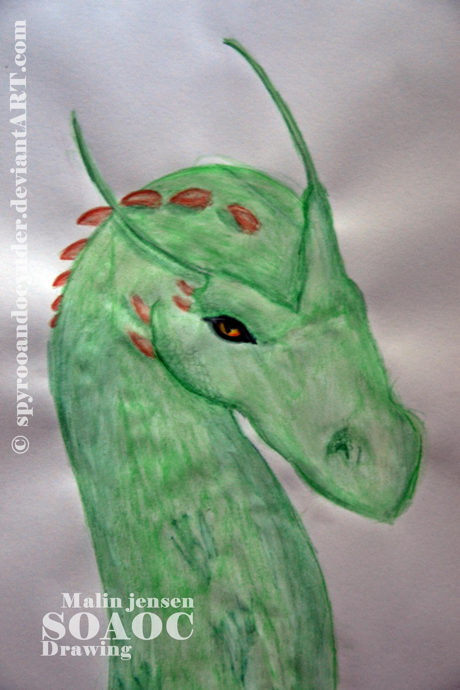 Green dragon by SpyroOandOcynder
