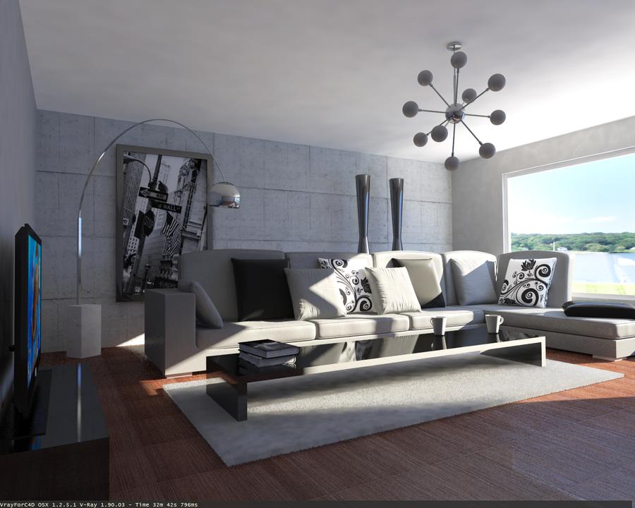 Living Room Interior Daylight 世界のオシャレ部屋 厳選150枚・・こんな部屋に