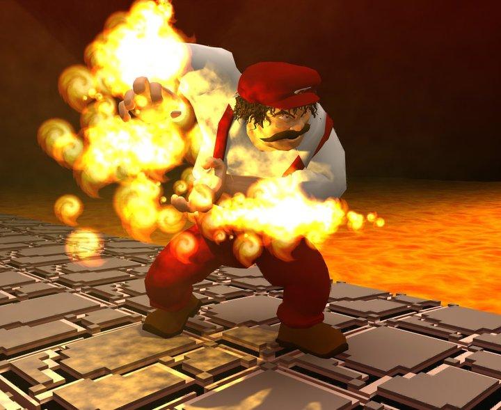 Fireball Mario Fire mario hadouken 1 by