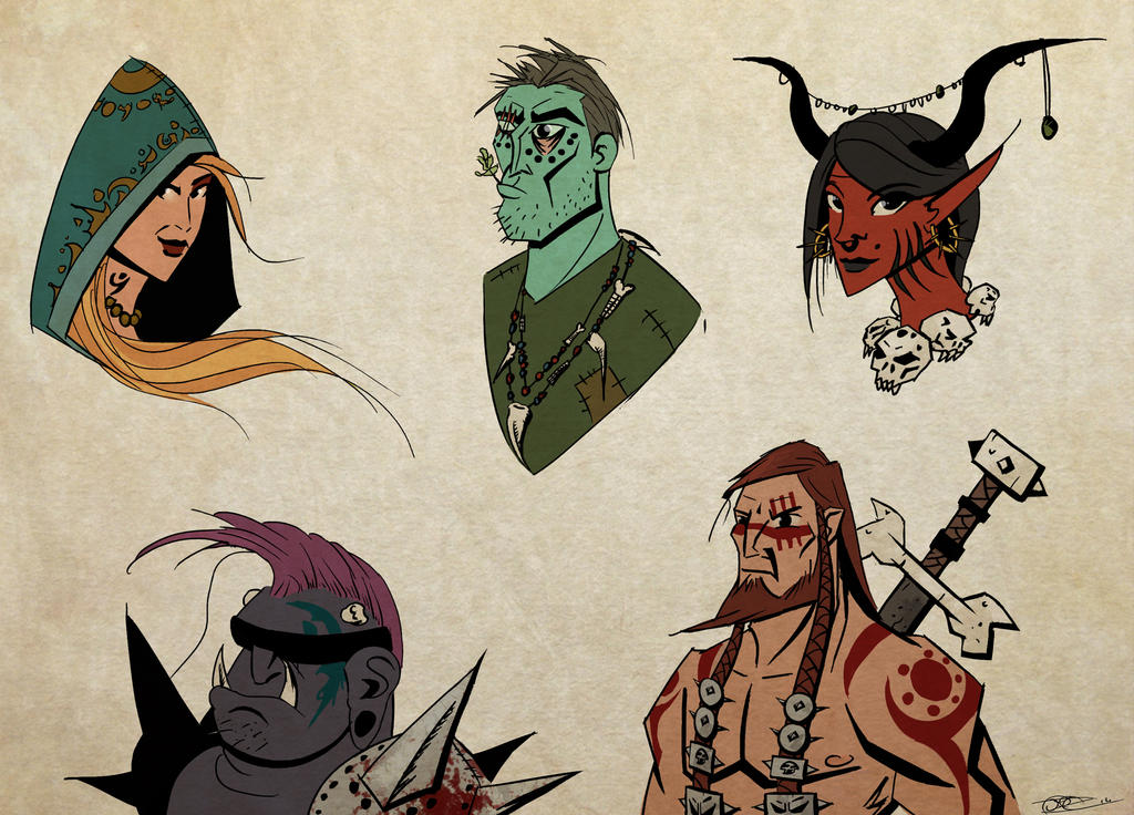 Demons and warriors color practice by Mocrasar