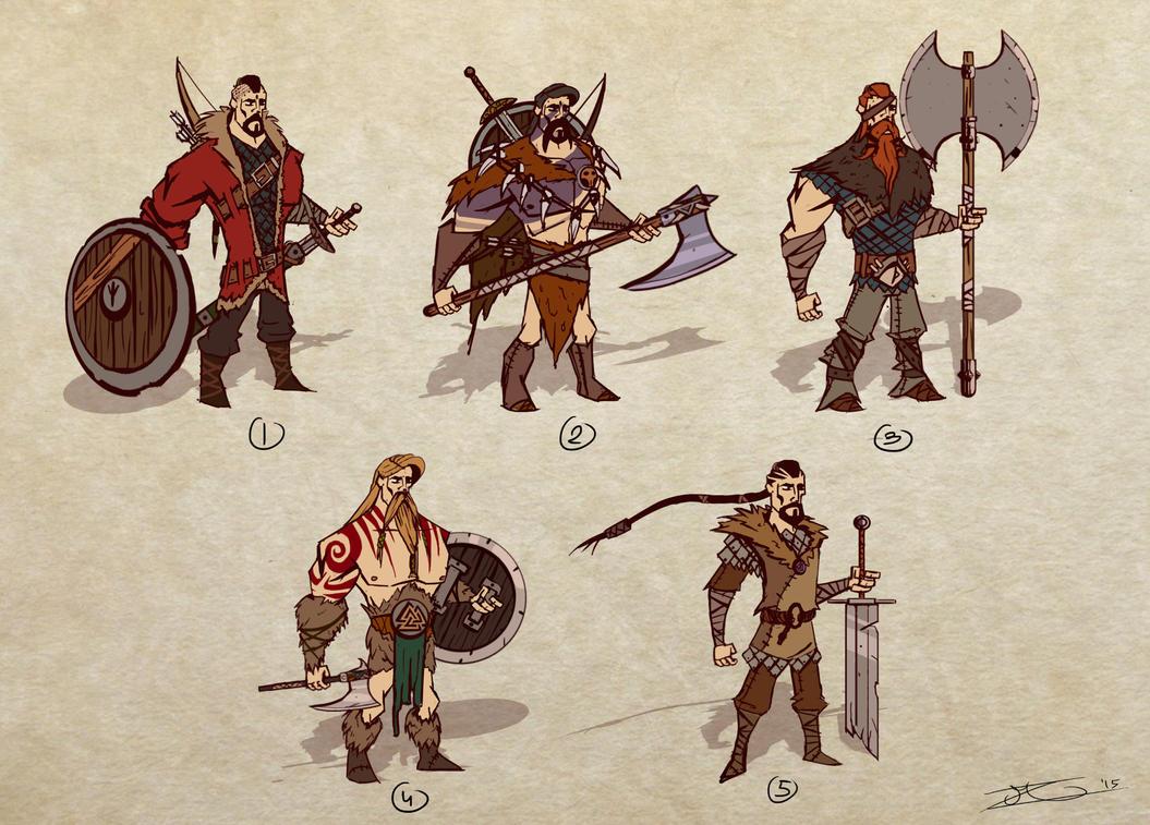 Master project : viking sketches by Mocrasar