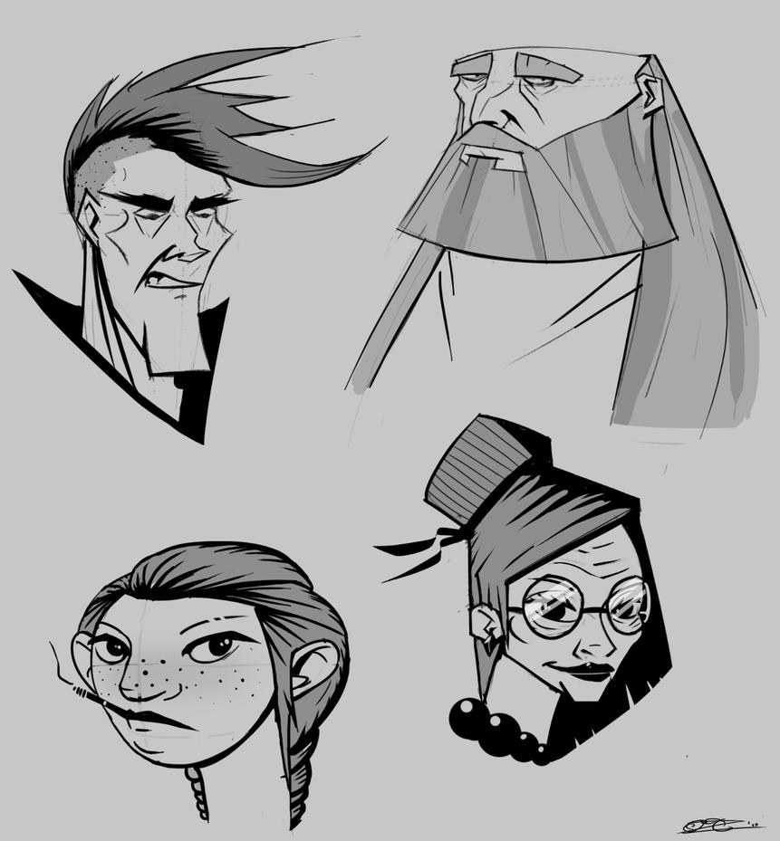 Facial shapes excercise by Mocrasar