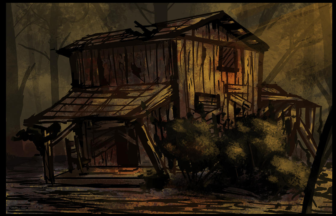 Cabin in the woods by Mocrasar